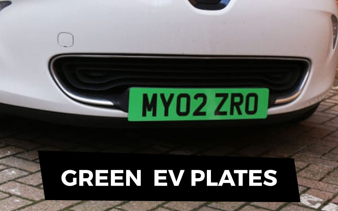 EV Number Plates are Going Green