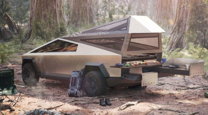 Cybertruck camping